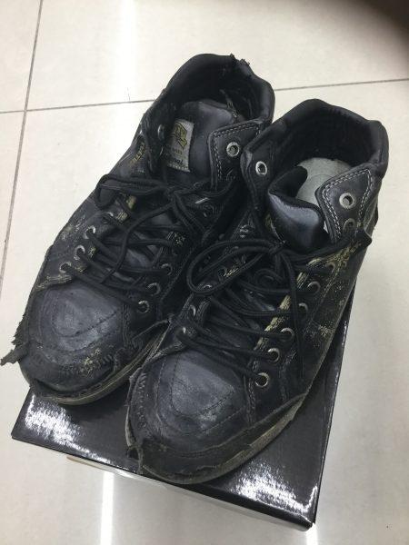 使用済みの安全靴 アイトス AZ-51633