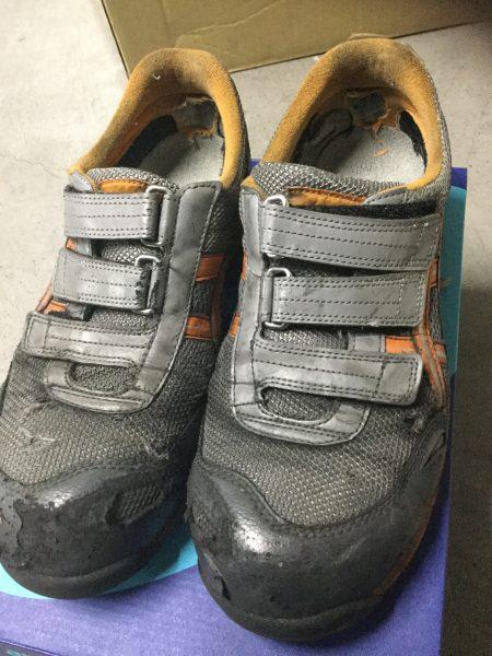 使用済みの安全靴 アシックス FIS41L